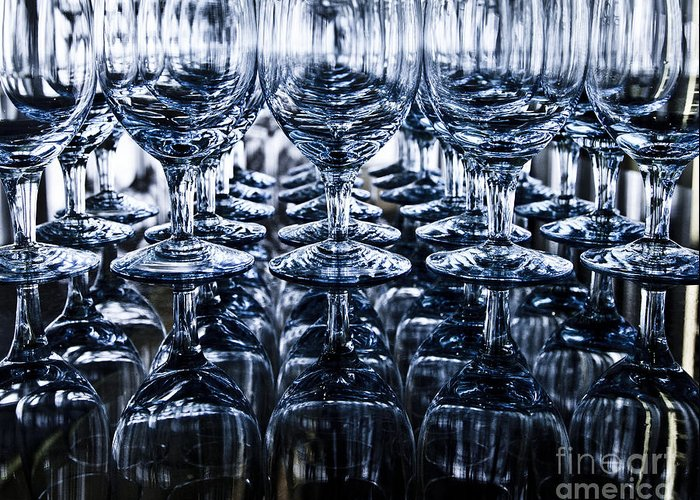 Alcohol Greeting Card featuring the photograph Blue Reflection by Chavalit Kamolthamanon