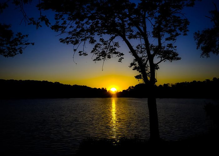 Sunset Greeting Card featuring the photograph Blue Sunset by Robert Brown