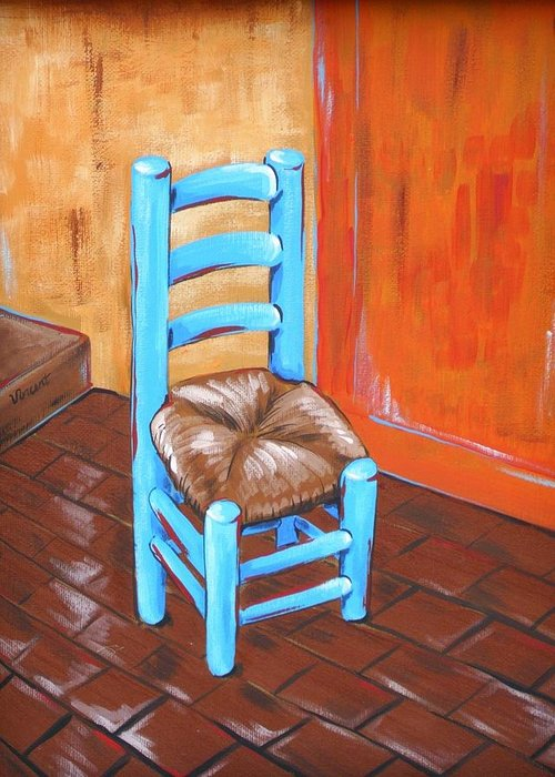 Ladderback Chair Paintings Greeting Cards