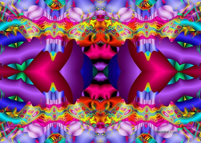 Purple Greeting Card featuring the digital art Blueberry Ice by Robert Orinski