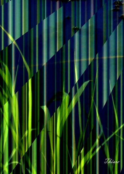 Nature Greeting Card featuring the digital art Blues by ThiART ThiART