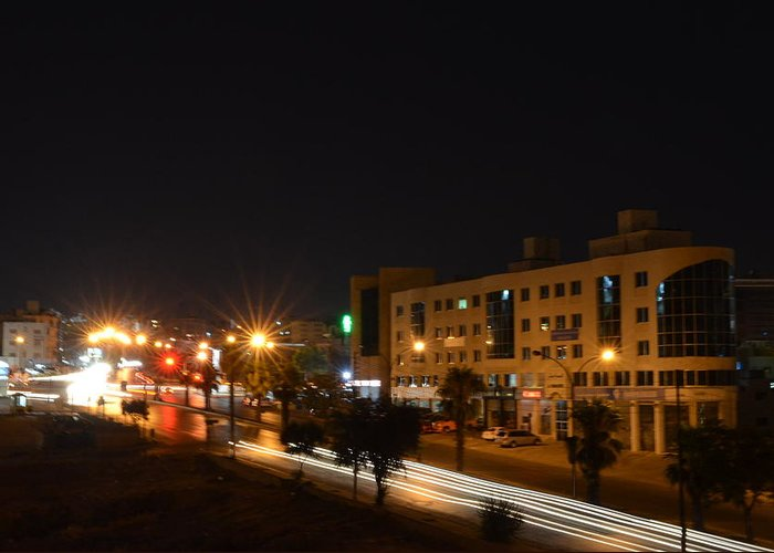 Long Exposure Greeting Card featuring the photograph Blur Road by Rami Khoury