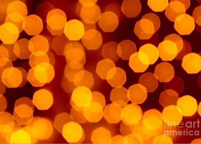 Abstract Greeting Card featuring the photograph Blurred Christmas Lights by Carlos Caetano