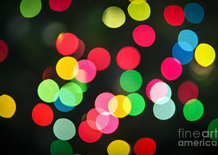 Blurred Greeting Card featuring the photograph Blurred Christmas Lights by Elena Elisseeva