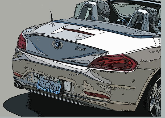 Bmw Greeting Card featuring the photograph Bmw Z4 Rear Study by Samuel Sheats