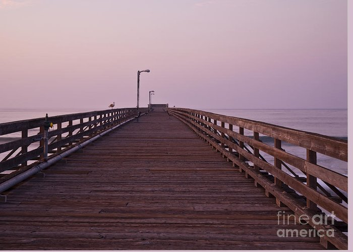 At Dawn Greeting Card featuring the photograph Boardwalk At Dawn by David Buffington