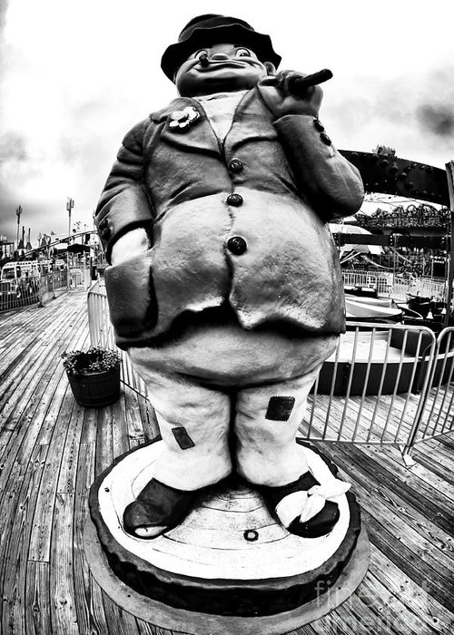 Boardwalk Hobo Greeting Card featuring the photograph Boardwalk Hobo by John Rizzuto