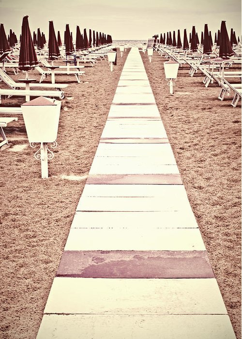 Lonely Greeting Card featuring the photograph Boardwalk by Joana Kruse