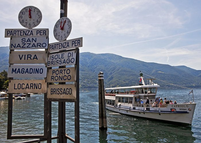 Ascona Greeting Card featuring the photograph Boat Trip On Lake Maggiore by Joana Kruse