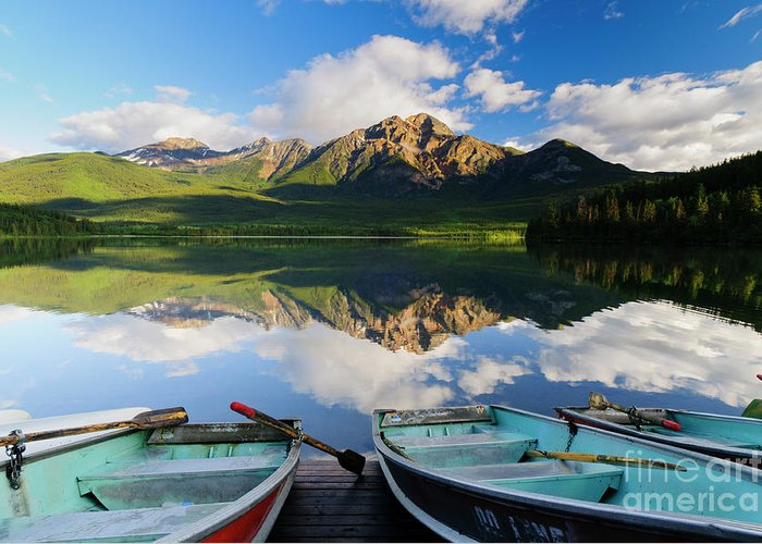 Alberta Greeting Card featuring the photograph Boats At Pyramid Lake by Ginevre Smith