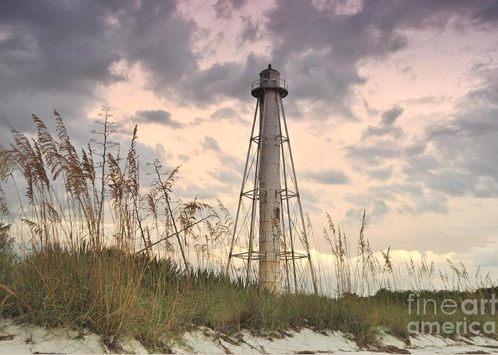 Boca Grande Greeting Card featuring the photograph Boca Grande Rear Range Light House by John Black
