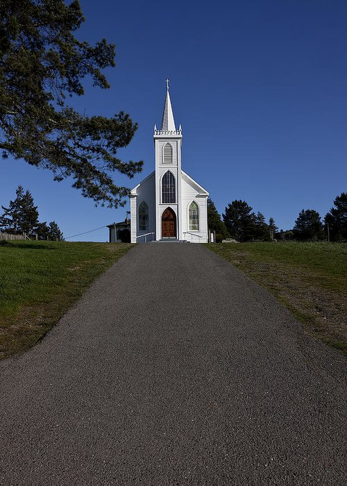 Church St. Teresa's Of Avila Greeting Card featuring the photograph Bodega Church by Garry Gay