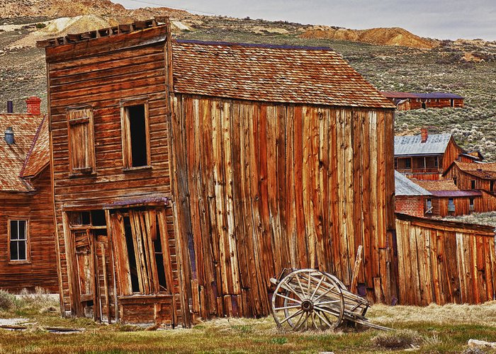 Bodie Greeting Card featuring the photograph Bodie Ghost Town by Garry Gay
