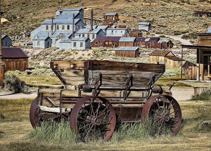 Bodie Greeting Card featuring the photograph Bodie Wagon by Kelley King