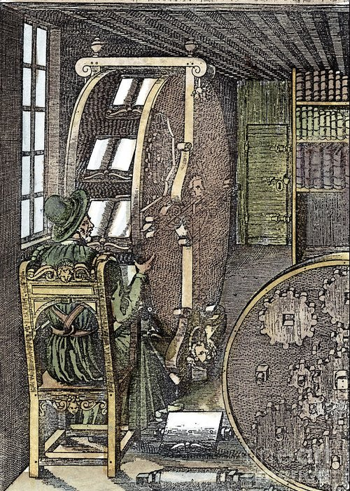 1588 Greeting Card featuring the photograph Bookwheel, 1588 by Granger
