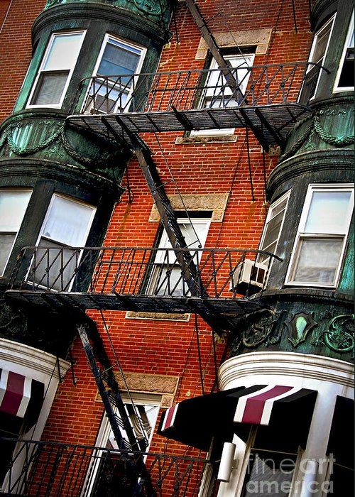 House Greeting Card featuring the photograph Boston House Fragment by Elena Elisseeva
