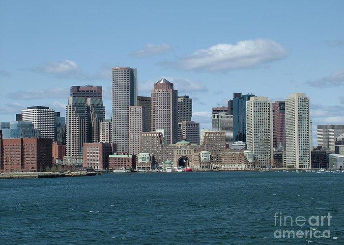 Boston Ma Greeting Card featuring the photograph Boston by Renata Zau