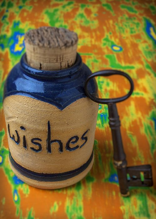 Jar Greeting Card featuring the photograph Bottle Of Wishes by Garry Gay