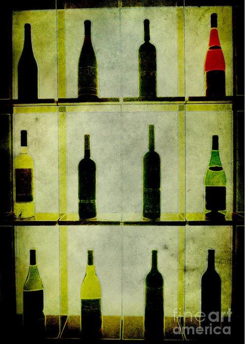 Bottles Greeting Card featuring the painting Bottles by Alexander Bakumenko