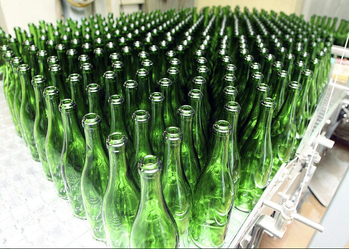 Cornet Greeting Card featuring the photograph Bottles At A Wine Bottling Factory by Ria Novosti