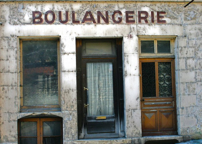 Old French Store Greeting Card featuring the photograph Boulangerie by Georgia Fowler