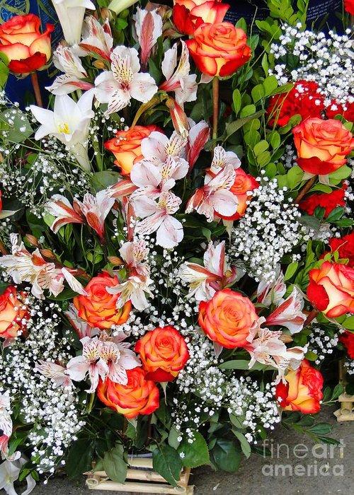 Al Bourassa Greeting Card featuring the photograph Bouquet Beauty by Al Bourassa