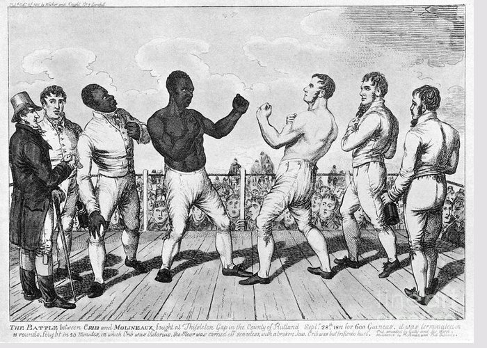1811 Greeting Card featuring the photograph Boxing: Cribb V. Molineaux by Granger