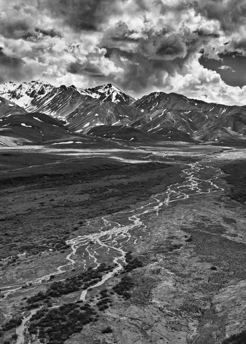 Braided River Greeting Card featuring the photograph Braided River by Wes and Dotty Weber