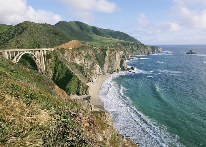 North America Greeting Card featuring the photograph Brazil Ranch, Bixby Bridge by Rich Reid