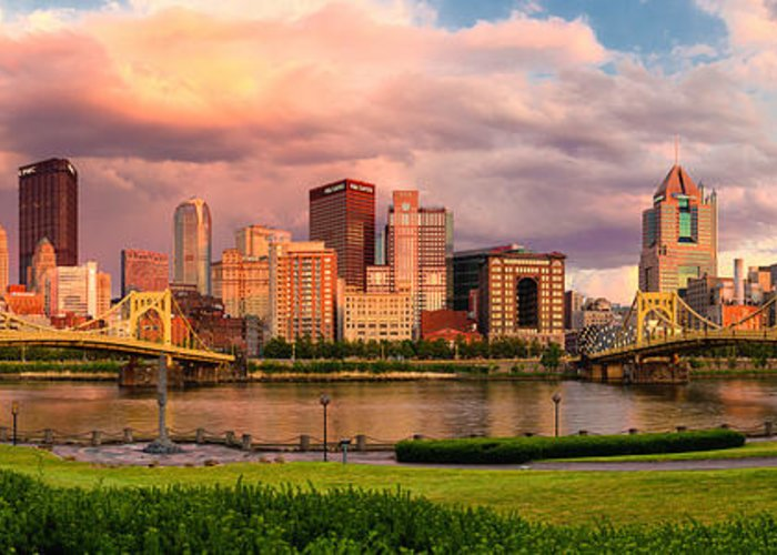 Pittsburgh Greeting Card featuring the photograph Break Open The Skies by Jennifer Grover