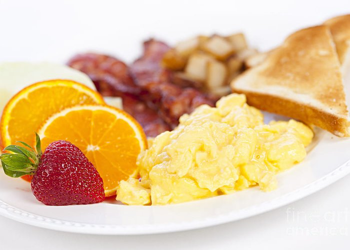 Breakfast Greeting Card featuring the photograph Breakfast by Elena Elisseeva