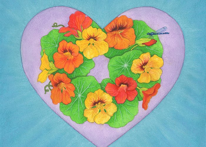 Heart Greeting Card featuring the painting Brianna by Lisa Kretchman