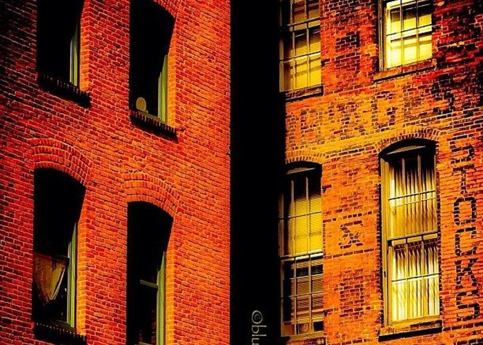 Typevstime Greeting Card featuring the photograph Brick & Glass by Matthew Blum