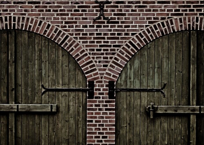 Doors Greeting Card featuring the photograph Brick Zipper by Odd Jeppesen