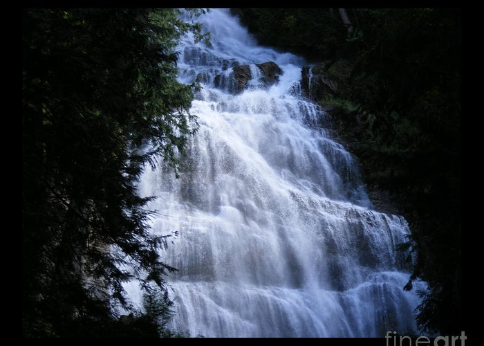 Falls Greeting Card featuring the photograph Bridal Falls B.c. Canada Two by Attila Jacob Ferenczi