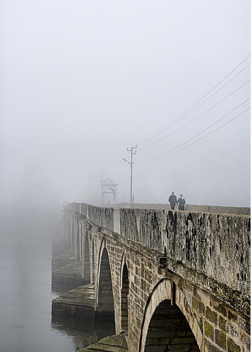 Bridge Greeting Card featuring the photograph Bridge - 3 by Okan YILMAZ