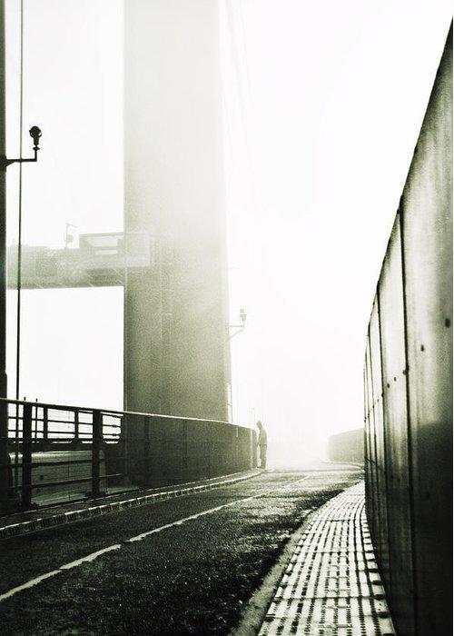 Xenia Seurat Greeting Card featuring the photograph Bridge In Mist by Xenia Seurat