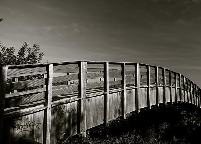 Jezcself Greeting Card featuring the photograph Bridge To The Falls by Jez C Self