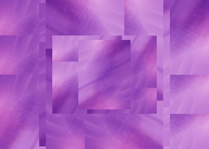 Abstract Greeting Card featuring the digital art Brushed Purple Violet 2 by Tim Allen