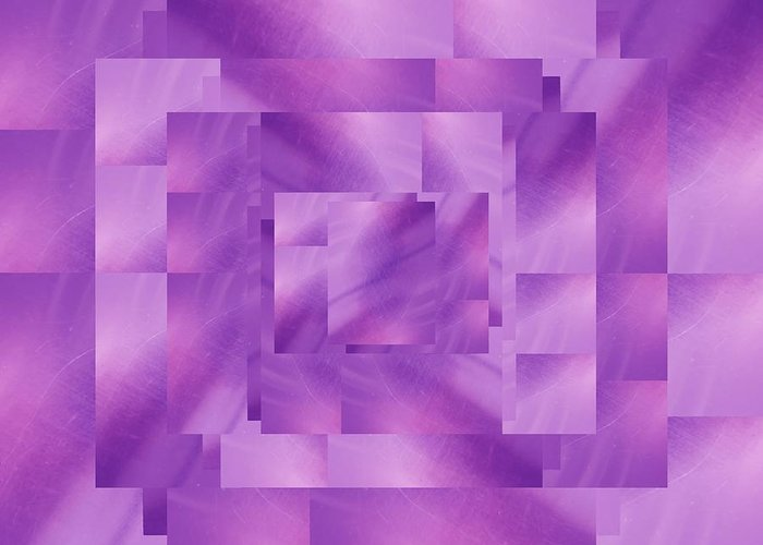 Abstract Greeting Card featuring the digital art Brushed Purple Violet 4 by Tim Allen