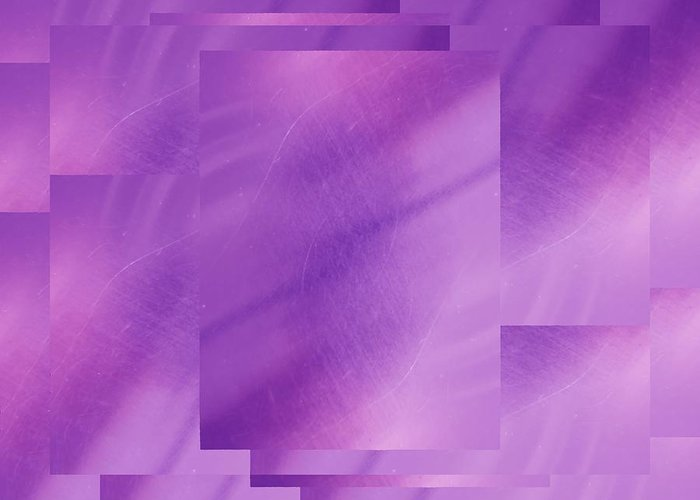 Abstract Greeting Card featuring the digital art Brushed Purple Violet 6 by Tim Allen