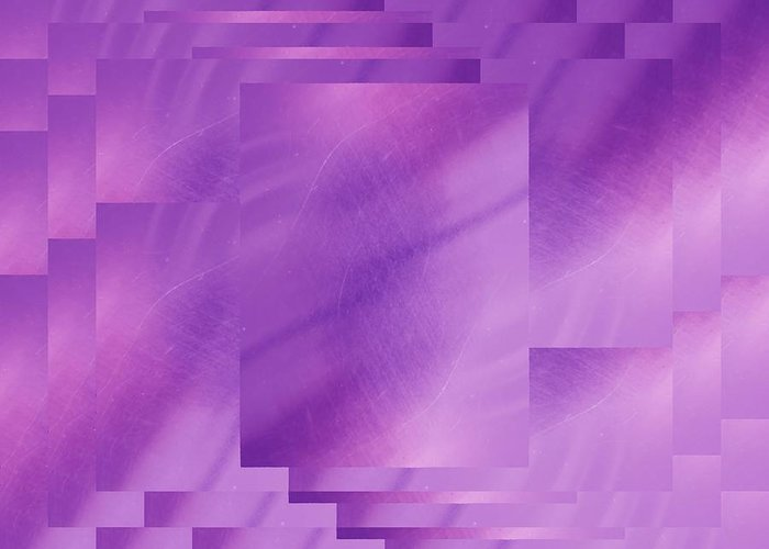 Abstract Greeting Card featuring the digital art Brushed Purple Violet 7 by Tim Allen