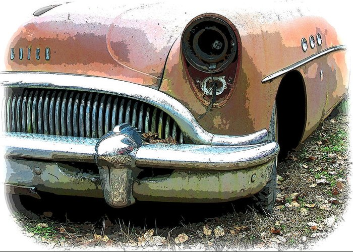 Buick Greeting Card featuring the photograph Buick by Steve McKinzie