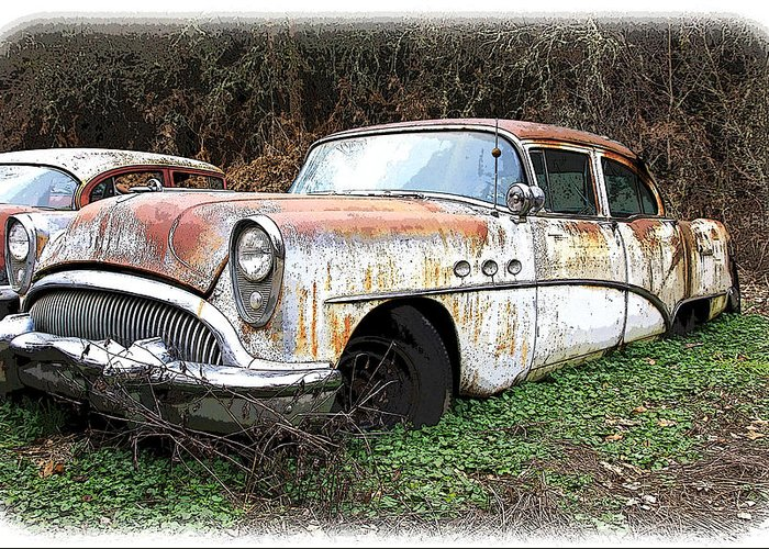 Buick Greeting Card featuring the photograph Buick Yard by Steve McKinzie