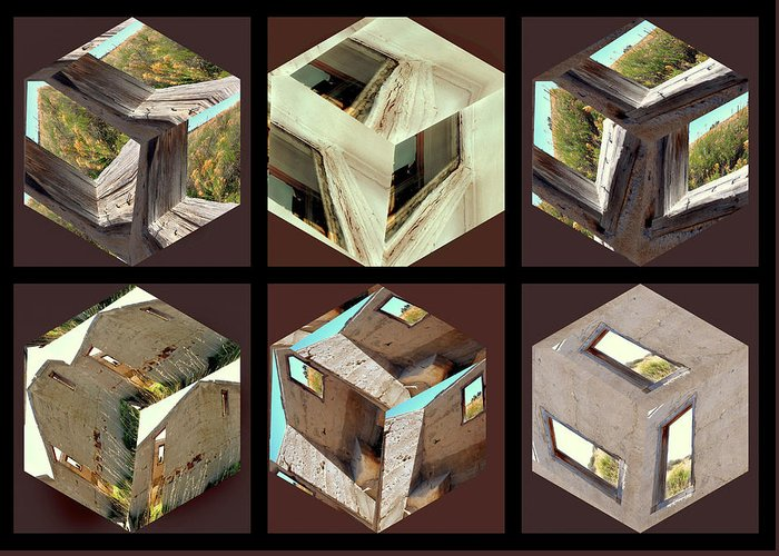 Architectural Greeting Card featuring the photograph Building Blocks by Irma BACKELANT GALLERIES