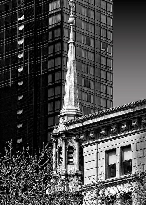 Steeple Greeting Card featuring the photograph Building Steeple by Andre Salvador