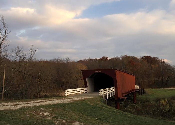 Covered Bridges Of Iowa Madison County Greeting Card featuring the photograph Built In 1883 Roseman Bridge by Randall Branham