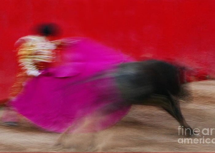 Spanish Tradition Greeting Card featuring the photograph Bull Fighter - Mexico by Craig Lovell