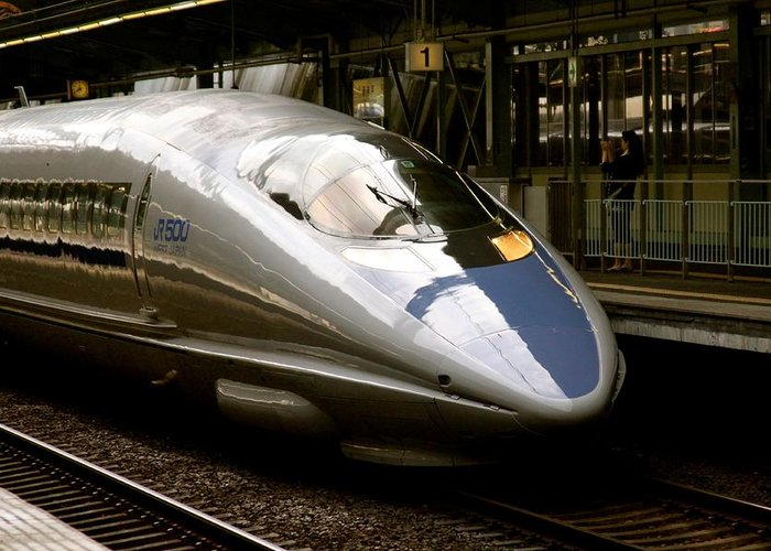 Bullet Greeting Card featuring the photograph Bullet Train by Jerry Patterson