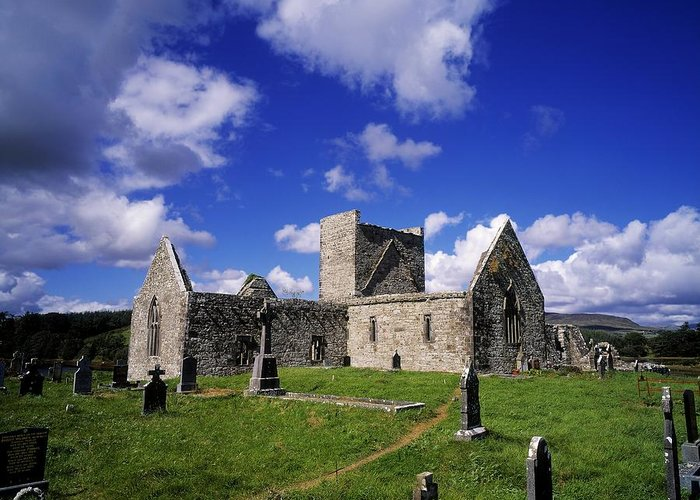 Archeology Greeting Card featuring the photograph Burrishoole Friary, Co Mayo, Ireland by The Irish Image Collection